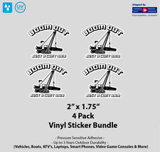 """4- Pack 2"""" x 1.7"""" Boom Out Vinyl Stickers"""
