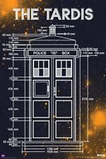 DOCTOR WHO - TARDIS MEASUREMENTS POSTER 24x36 TV BBC DR 5625