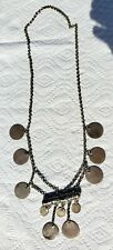 Ancient Islamic Silver Coins Large Necklace