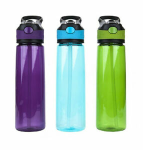 800ml Large Drink Bottle with Leak Proof Lid Flip Up Straw Sports New