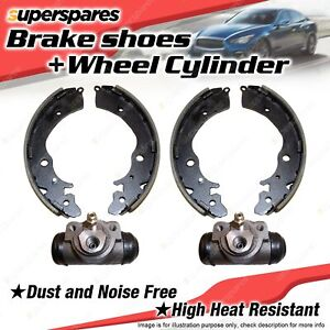 Rear 4 Brake Shoes + Wheel Cylinders for Ford Courier PB PC PD 2.2L 2.6L
