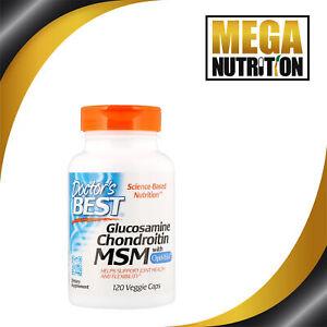 Doctors Best Glucosamine Chondroitin MSM with OptiMSM 120 Veg Caps | Hair Skin