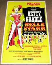 BELLE STAR BETTY GRABLE STUNNING THEATRE POSTER PALACE THEATRE LONDON IN 1969