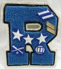 Vintage High School Varsity Letter R Baseball Basketball Rogers Rams Patch