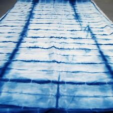 Indian Indigo Blue Hand-Dyed Bandhani Shibori 100% Cotton Soft Fabric 5 Yard HS5