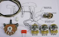 Electrics Upgrade Wiring Kit for Strat (with Oak Switch)CTS Orange Drop S/craft