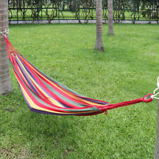 Outdoor Camping Swing Hanging Braided Rope Hammock Red 200cm X 150cm Combo a