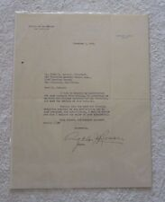 SIGNED LETTER BY ITALIAN MAYOR OF SAN FRANCISCO ANGELO ROSSI LAUNDARY OWNER 1935