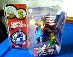 THE SIMPSONS MCFARLANE HOMER-N-BART SIMPLE SIMON-N-SON FIGURE SET SEALED DMG