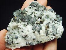 95g Sphalerite and Gelenite Crystal and Quartz Crystal on Matrix Mineral