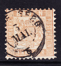 GERMANY BADEN 1862 SG33 pale brown - good used. Catalogue £50