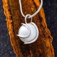 Runde Echtschmuck-Bettelarmbänder & -Anhänger für Damen mit Perle
