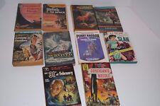 Set of 10 Vintage Sci-Fi 1950's-70's Paperback Novels 28