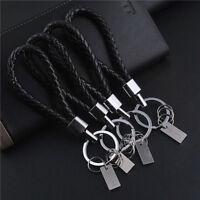 Fashion Men Leather Car Key Chain Ring Keyfob Keyring Keychain Gift TOP DURABLE