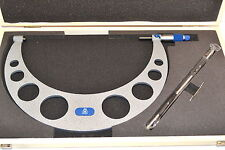 "NEW MOORE & WRIGHT MW210-071 Micrometer 10-11"" 0.0001"" Carbide + Standard EB3A4"