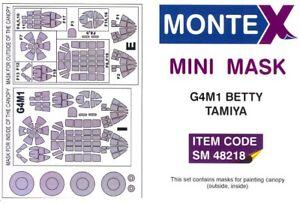 "Montex 1/48 MITSUBISHI G4M1 ""BETTY"" CANOPY PAINT MASK Tamiya"