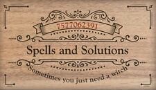 Witch for hire! From Spells and Solutions.