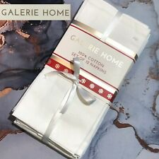 "New SET OF 12 - GALARIE HOME - 100% Cotton Napkins 18"" x 18"" in White"