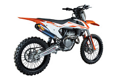 KTM sxf250 sxf350 16-18 SILENCIADOR Fmf f4.1 Titanio con tapa de extremo de carbono