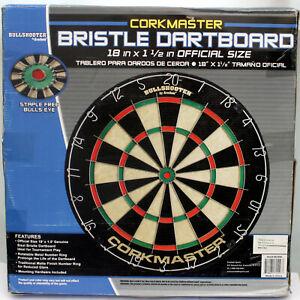 Game Bullshooter 18 X 1-1/2 Inch Bristle Dart Board with No Center Staple