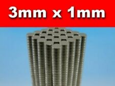 500 Pieces RARE Earth Neodymium Magnets N50 3mm Diameter X 1mm Thickness