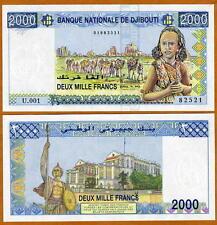 Djibouti, 2000 Francs, ND (1997) , P-40, UNC