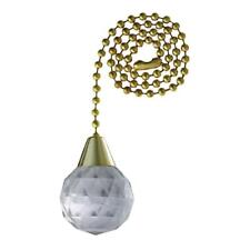 Westinghouse Lighting Acrylic Faceted Sphere Pull Chain for Fan or Light, 77084