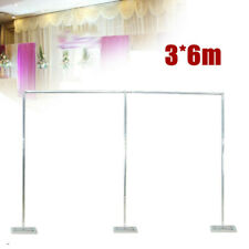 Wedding Party Backdrop Stand Pipe Kit 6x3m Stainless steel Pole Curtain Frame