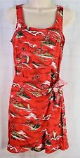 RAMPAGE USA Hawaiian Aloha Tank Dress Size 7 With Front Wrap
