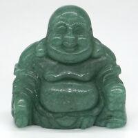 2 inch natural Green Aventurine Happy Laughing Buddha Figurine Healing Gemstone