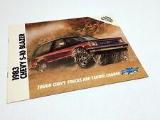 1983 Chevrolet S-10 Blazer Brochure