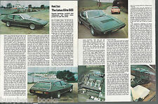 1975 LOTUS ELITE 503 road test, Lotus Elite, British magazine article