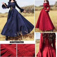 Vestito Lungo Donna Abito Velluto High Quality Vintage Woman Maxi Dress BOSHD07