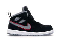 Nike Air Jordan 1 Mid Black Particle Grey White TD Toddler Sz 8c 640735 060 NEW