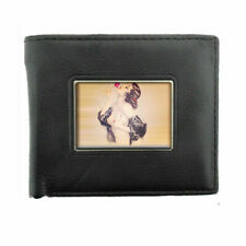 Classic Pin Up D 10 Image Black Bifold Leather Wallet