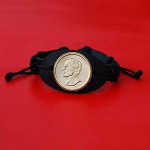2016 Presidential Coin Genuine Leather Wristband Bracelet - Richard Nixon