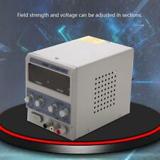 220V 2-5A Adjustable DC Bench Power Supply Precision Variable Digital Lab &Cable