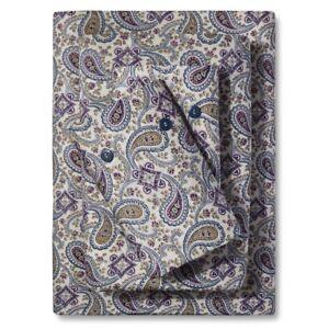 HUGE sale Luxyury Cotton Sateen Queen Sheet Set Bedeck 1951 Ila Navy Paisley