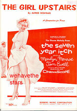 "THE SEVEN YEAR ITCH Sheet Music ""The Girl Upstairs"" Marilyn Monroe Tom Ewell"