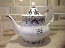 Vtg. Royal Albert Teapot  25 Anniversary Silver Gilded Tea Pot 1970s England