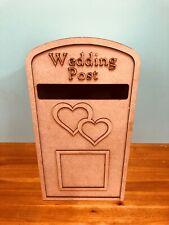 Large Wedding Post Box - Hearts