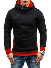 Autumn New Arrival Contrast Color Hoodies - Red