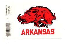 Lot of 12 Arkansas Razorbacks Window Stickers Decals - Brand New - Free Shipping