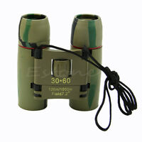 Outdoor Travel 30 x 60 Zoom Folding Day Night Binoculars Vision Telescope + Bag