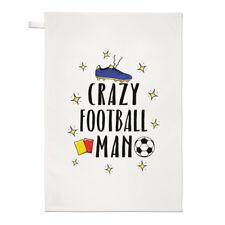 Crazy Football Man Tea Towel Dish Cloth - Funny Soccer Sport