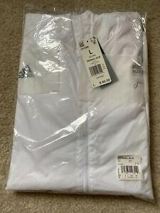 2020 Boston Marathon Men's Medic Jacket White Size L NEW WITH TAGS