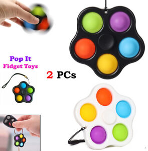 Simple Dimple Bubble Fidget Spinner Toys Sensory Stress Relief Special Need Kids