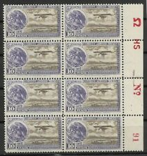 Mexico 10 peso airmail #C19, plate # block of 8