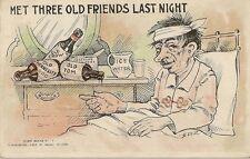 CARTE POSTALE POST CARD FANTAISIE USA MET THREE OLD FRIENDS LAST NIGHT