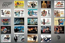 "JAMES BOND 007 laminated POSTER ""23 MOVIES"" LICENSED ""BRAND NEW"" 50 YEARS OF 007"